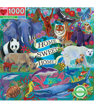eeBoo Planet Earth- 1000 Piece Puzzle