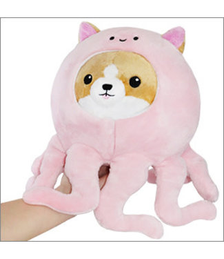 "Squishable Undercover Corgi in Pink Octopus - 7"""