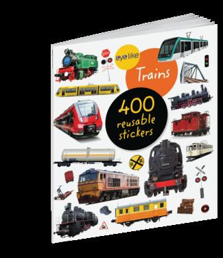 Workman Publishing Eyelike Stickers: Trains