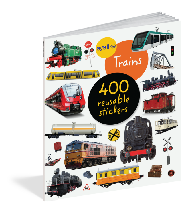Workman Publishing Eyelike Stickers: Trains