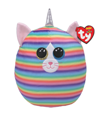 TY Heather - Cat Rainbow Squish 12""
