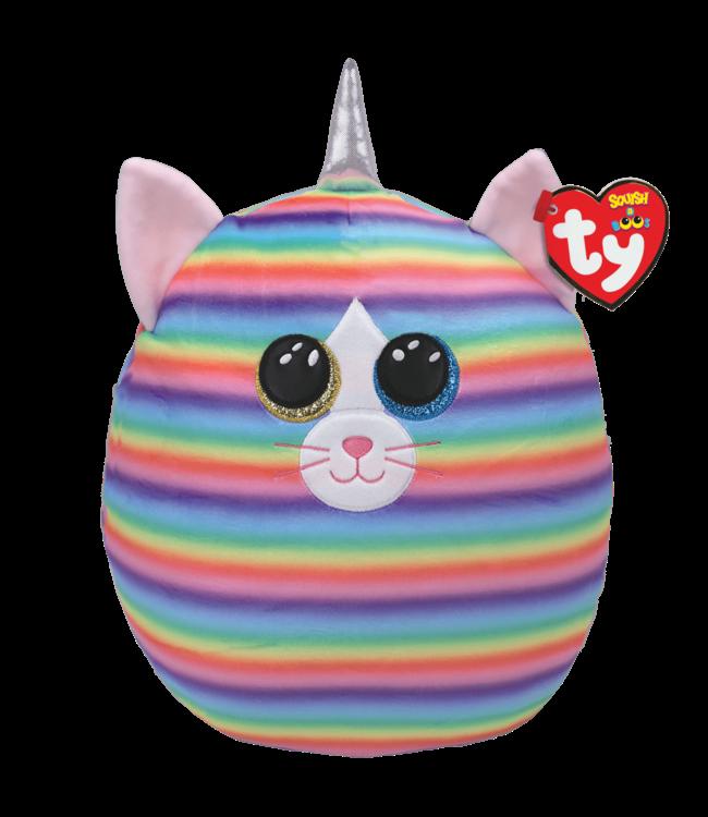 """TY Heather - Cat Rainbow Squish 12"""""""