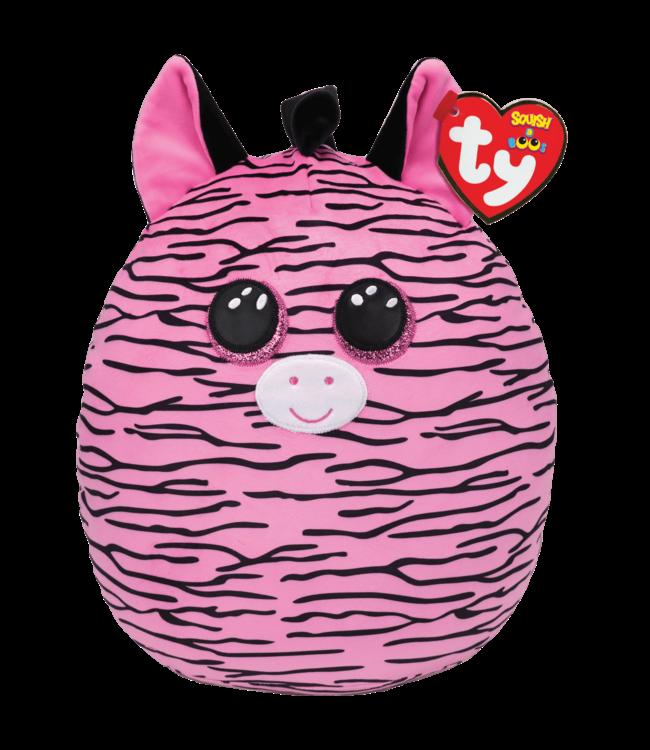 "TY Zoey - Zebra Pink Squish 12"""