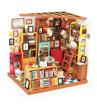 Hands Craft Sam's Study Room DIY Miniature Dollhouse Kit