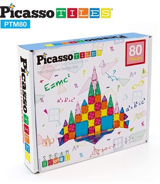PicassoTiles Mini Diamond 80pc Set PTM80