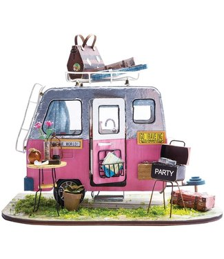 Hands Craft Happy Camper DIY Minature Dollhouse Kit
