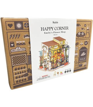 Hands Craft Flower Shop DIY Miniature Dollhouse Kit