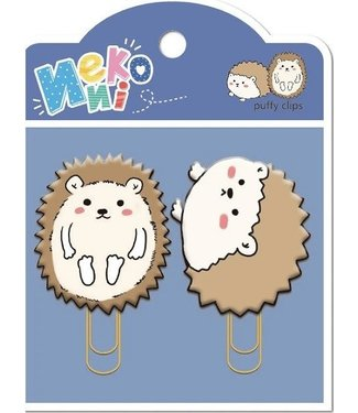 BC USA Hedgehog Puffy Clips-2 clips