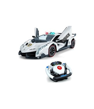 Top Race RC Police Car -  Motion Gravity 4D Steering Wheel