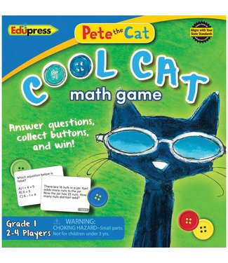 edupress Pete the Cat Cool Cat Math Game Grade 1