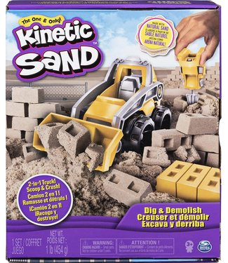 Spinmaster Kinetic Sand Dig & Demolish Truck Playset