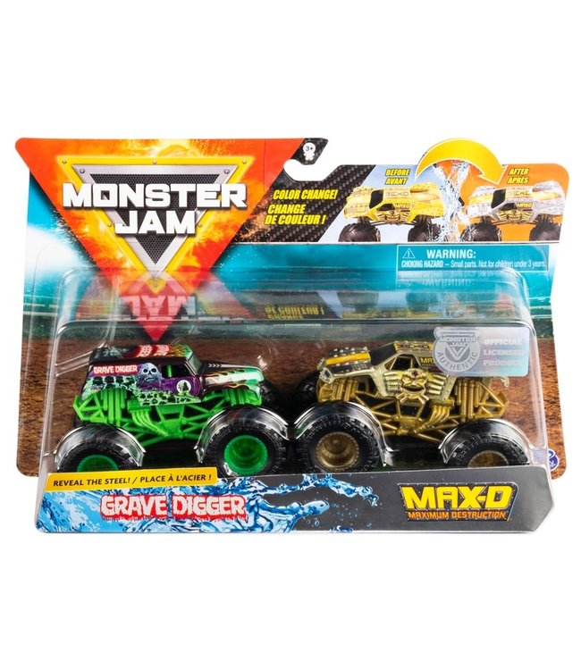 Spinmaster Monster Jam Color-Changing Die-Cast Monster Trucks 2-Pack