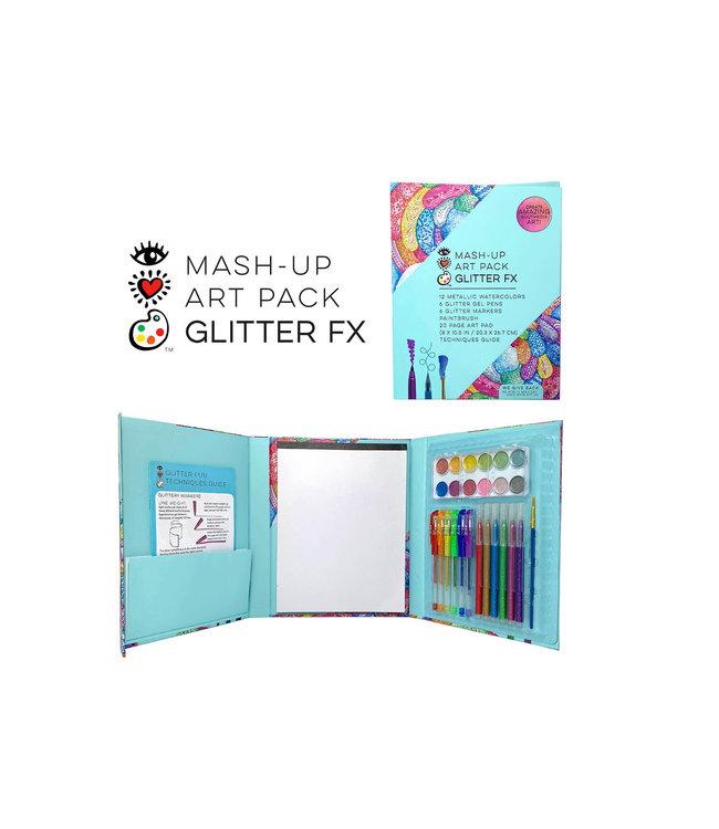 Bright Stripes iHeart Art Mash Up Art Pack Glitter FX