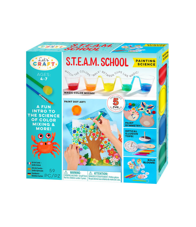 Bright Stripes Let's Craft S.T.E.A.M. School Painting Science