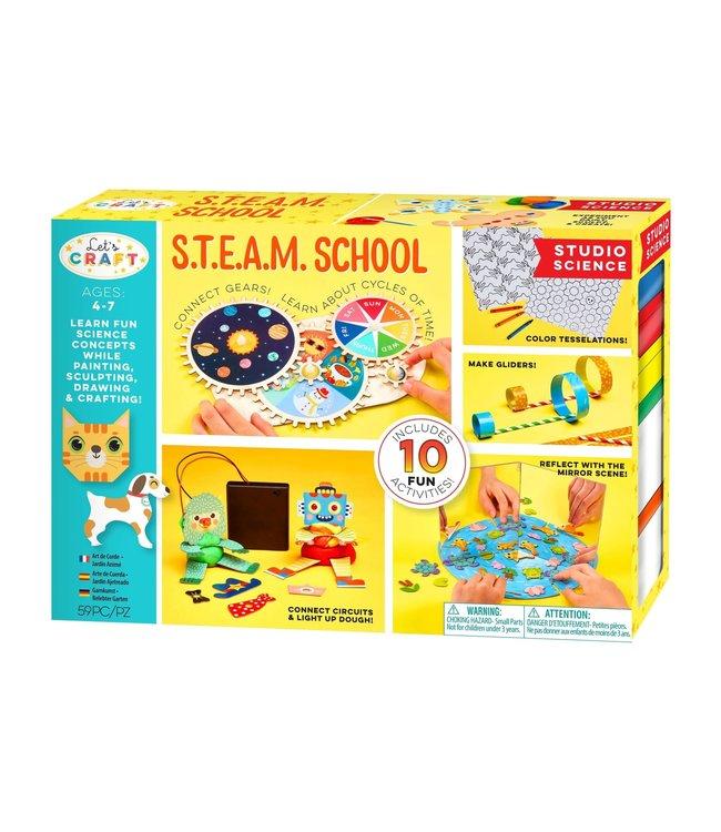 Bright Stripes Let's Craft S.T.E.A.M. School Deluxe Studio Science