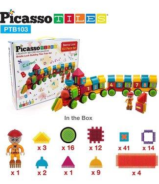 PicassoTiles Picasso Tiles 103pc Bristle Alphabet & Number Set
