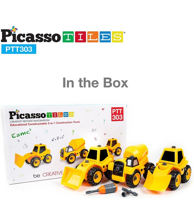 PicassoTiles Picasso Tile Education 3 in 1