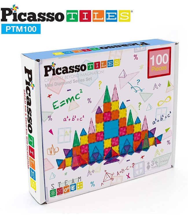 PicassoTiles Picasso Tile Mini Diamond 100pc Set
