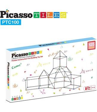 PicassoTiles Picasso Tile 125pc Fort Building Kit
