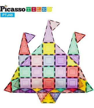 PicassoTiles Picasso Tile 48pc Magnetic Building Tile Block Set