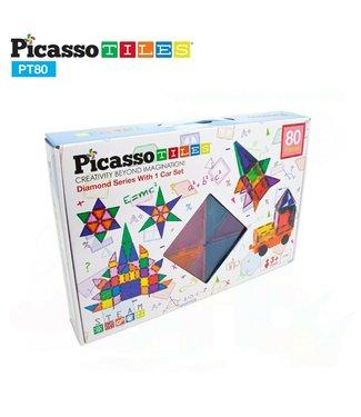 PicassoTiles Picasso Tile 80pc Master Builder Set