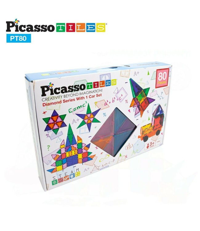 PicassoTiles Picasso Tile 80pc Master Builder Set