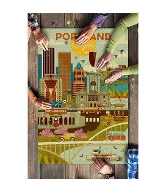 1000 Piece Puzzle - Portland, Oregon, Geometric