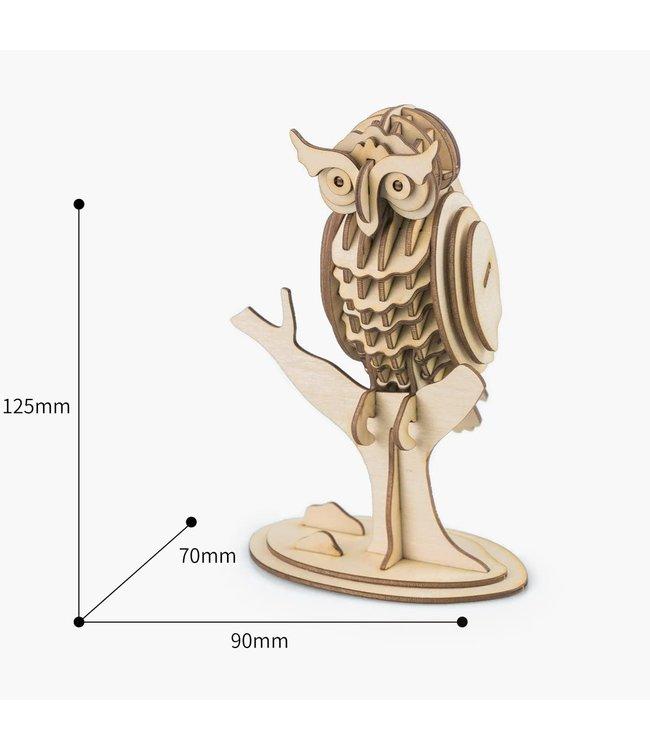 Hands Craft 3D Wooden Puzzle Owl