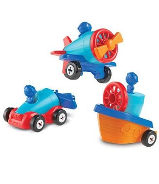 Learning Resources 1-2-3 Build It! Car-Plane-Boat