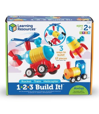 Learning Resources 1-2-3 Build It! Rocket-Train-Helicopter