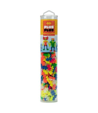 Plus-Plus Open Play Tube - 240pc Neon Mix