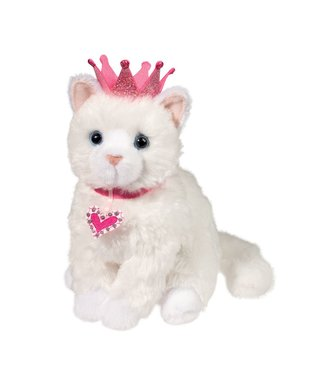 Douglas Duchess White Cat w/ Crown - 8""