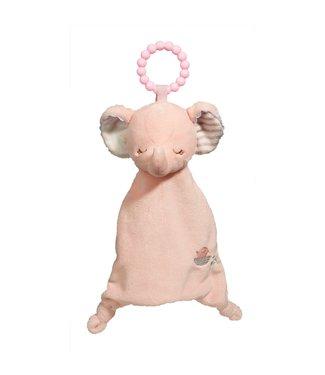 """Douglas Pink Elephant Lil' Sshlumpie Teether Blankie - 10"""""""