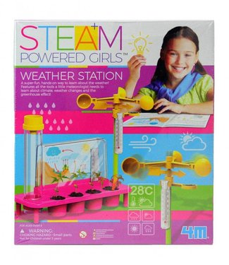4M STEAM Powered Girls Weather Station & Journal