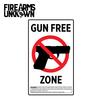House Gun Free Zone Joke Sticker