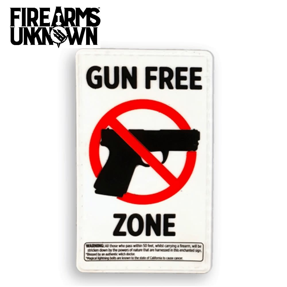 House Gun Free Zone Patch