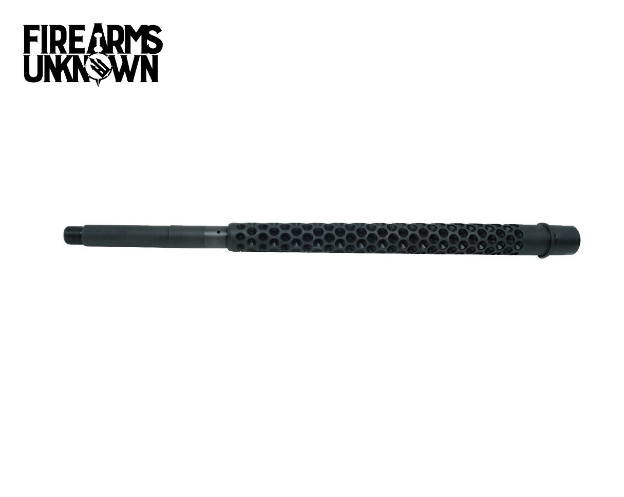 LR308 Barrel, Black Oxide 416r Stainless Dimpled, .308, Mid Length or Rifle Length, 1:10