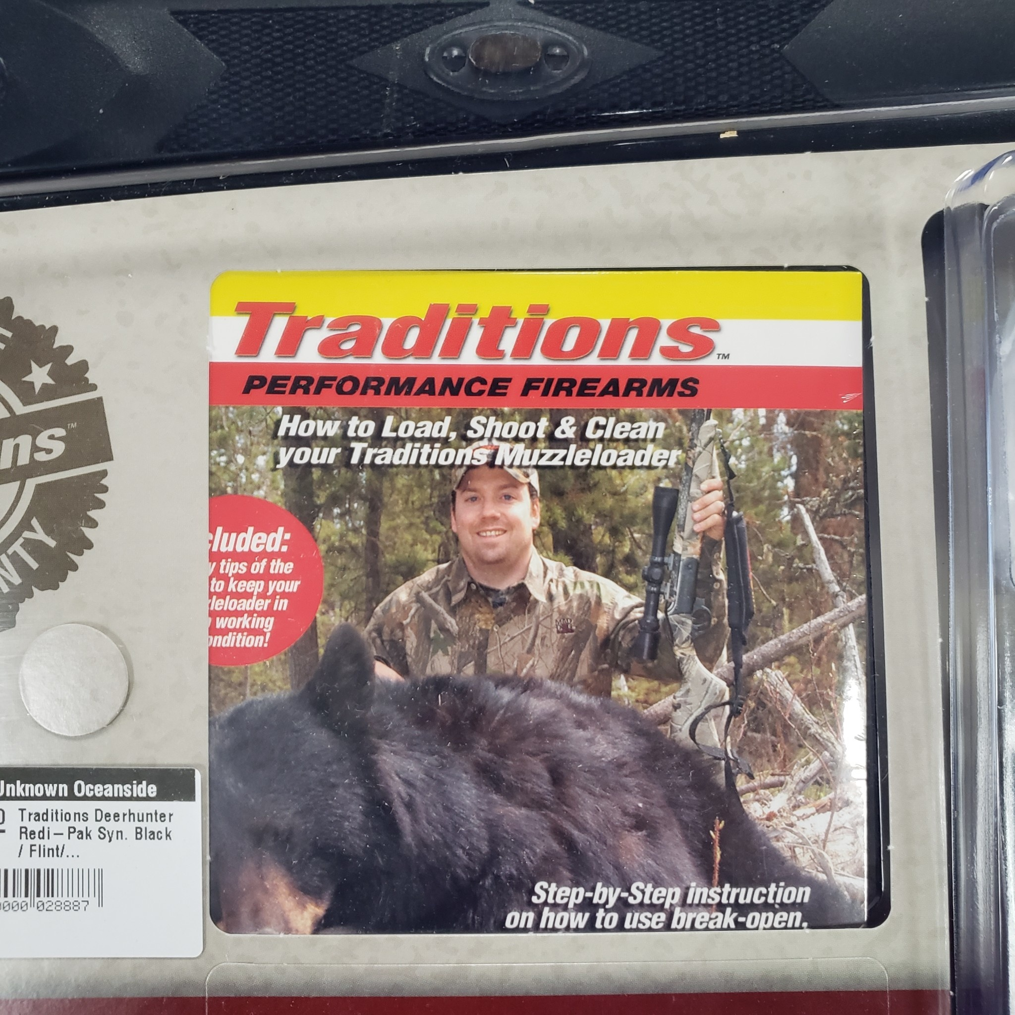 "Traditions Deerhunter Redi-Pak Syn. Black / Flint/.50 / 24"" Blued/40""/3"