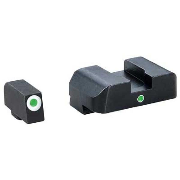 Ameriglo GL-101 Glock Sights Tritium Front White