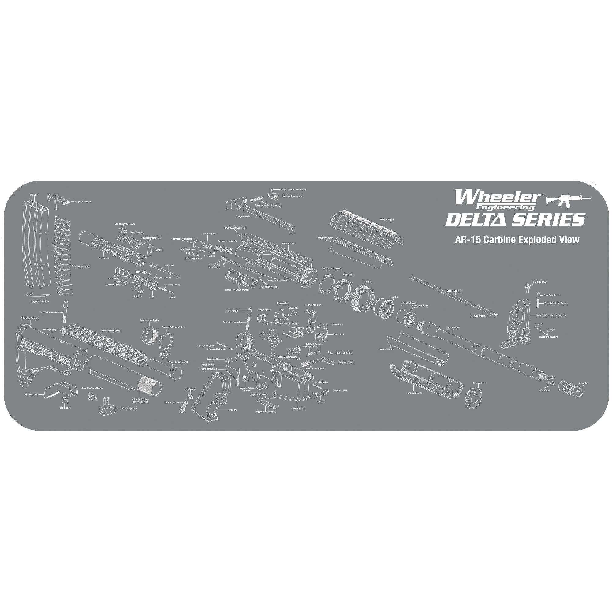 Wheeler AR-15 Maintenance Mat Gray Large