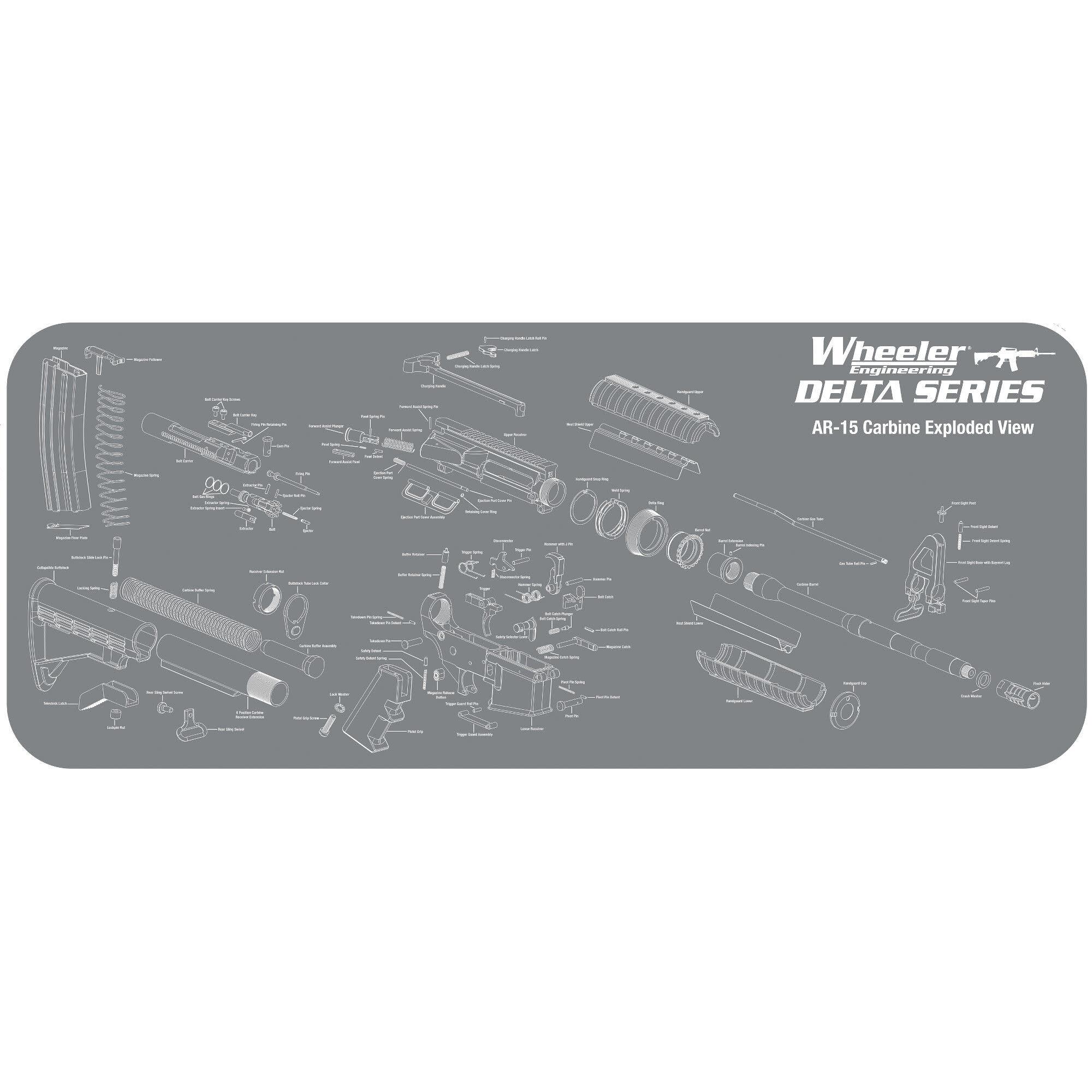 Wheeler AR-15 Maitnence Mat Gray Large