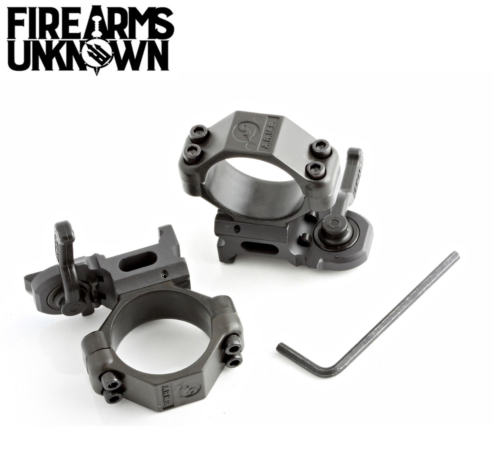 ARMS #22 Throw Lever Scope Rings 30MM Medium