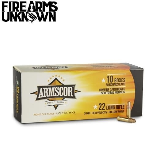 ARMSCOR 22LR 500rd Box 36gr HV Hollow
