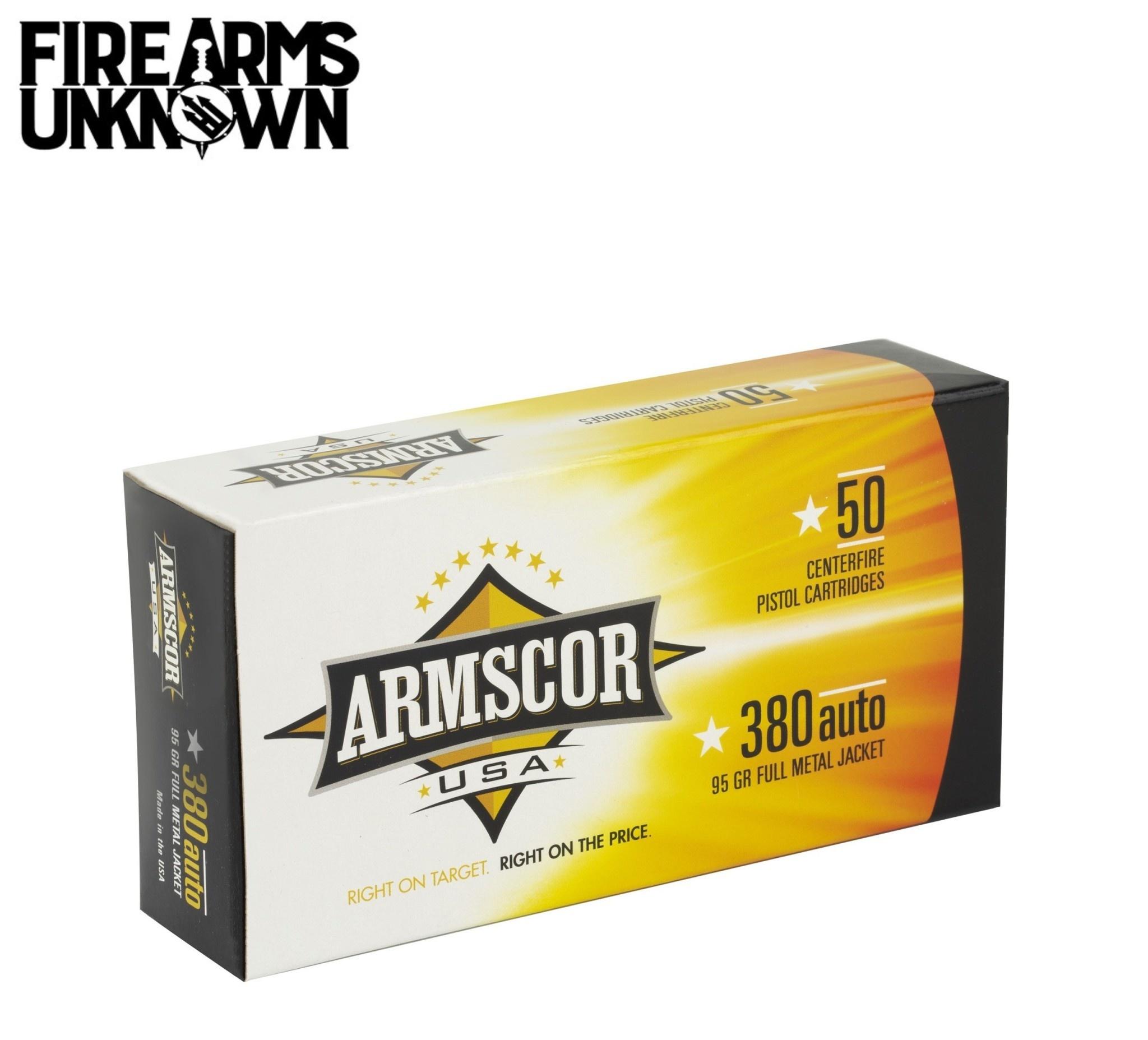 ARMSCOR 380ACP 95GR FMJ 50 Box
