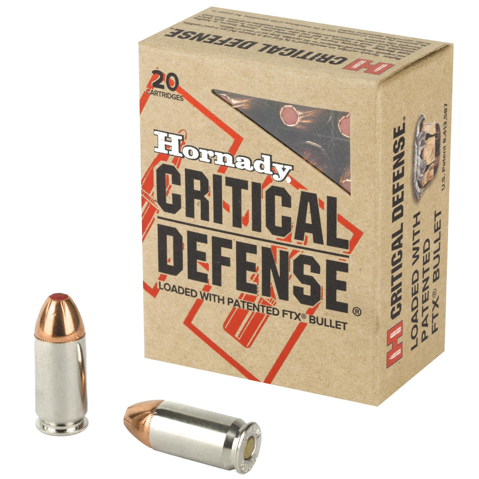 Hornady Critical Defense 45ACP 185gr 20rd Box