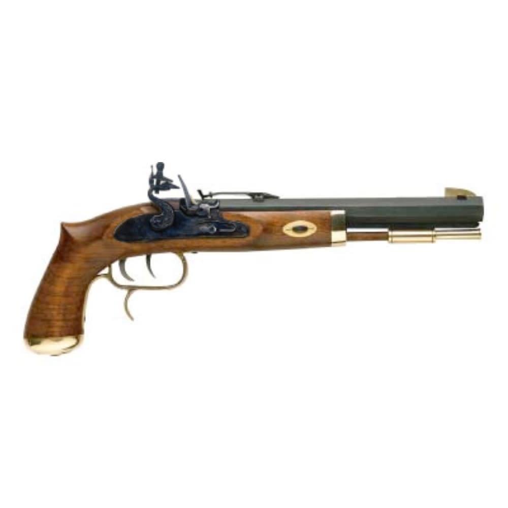 "Traditions Trapper Pistol / Select Hardwood / Flint./.50 / 9.75"" Blued/15.5""/6"