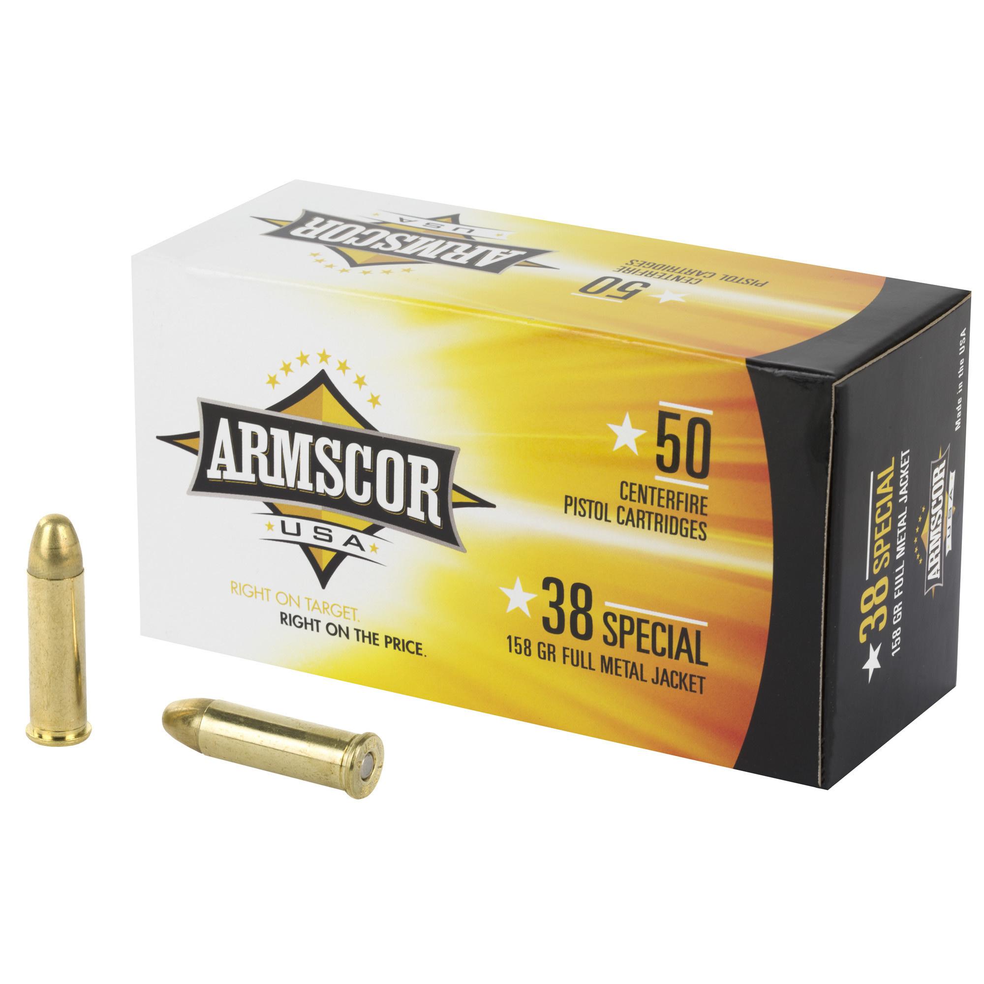 ARMSCOR 38SPL 158GR FMJ