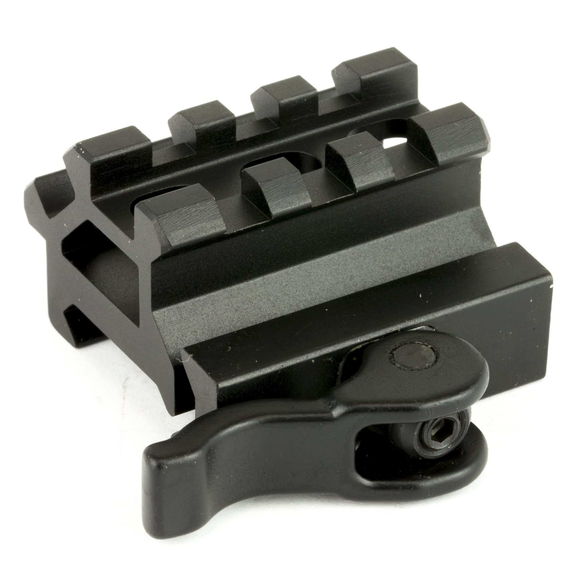 UTG Double Picatinny Rail with 3 Slot Angle Mount W/QD LOCK