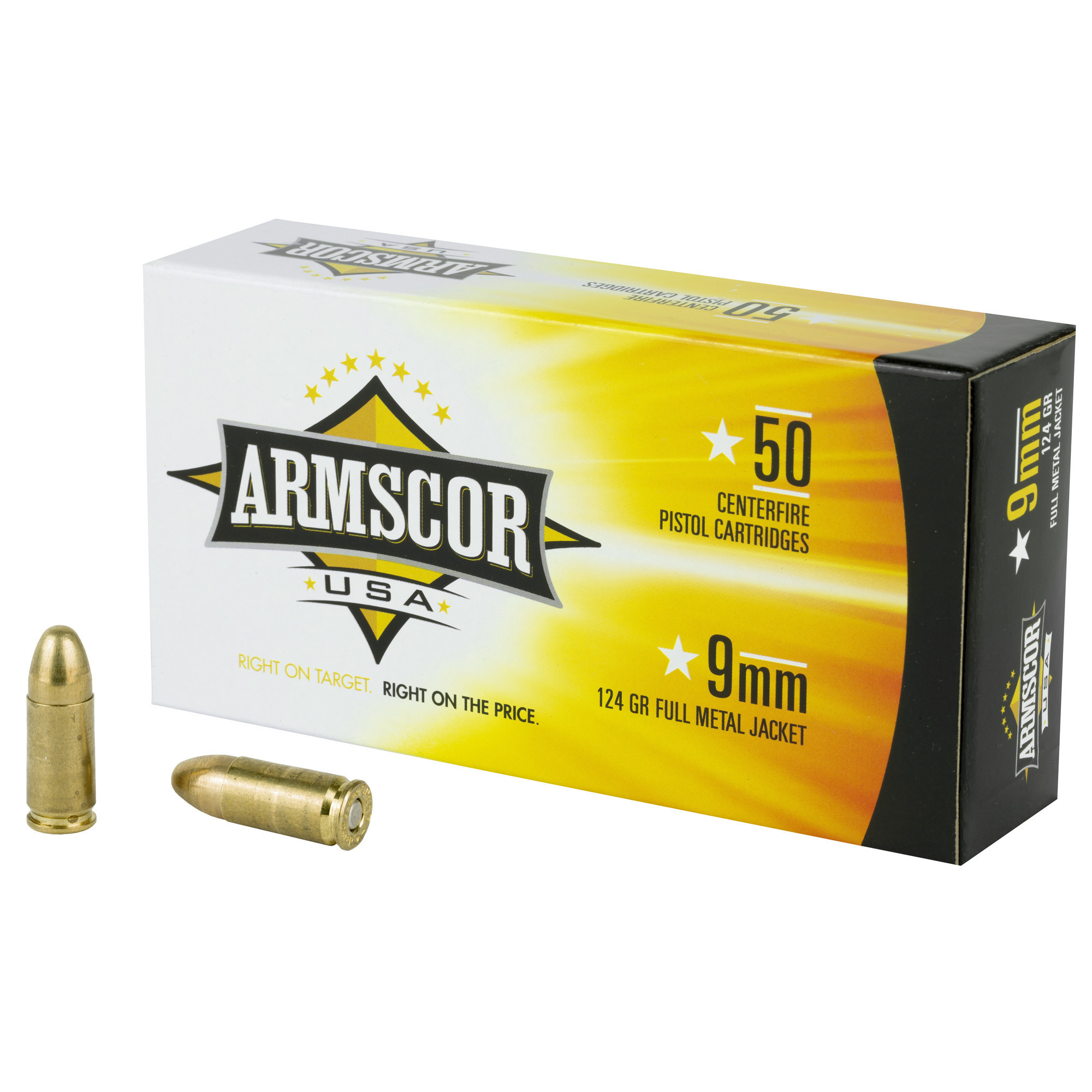 ARMSCOR 9MM 124GR FMJ 50rd Box
