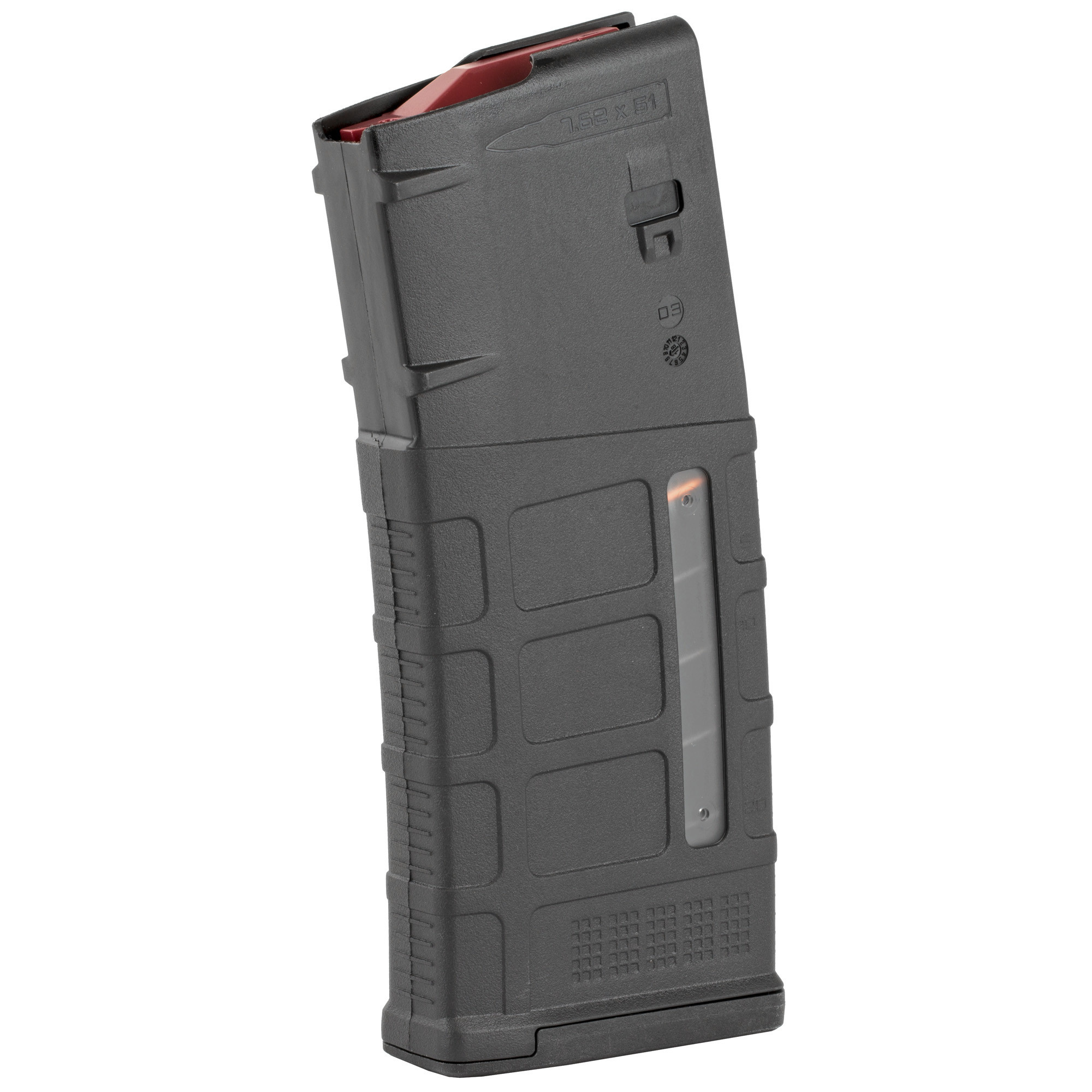 Magpul PMAG Gen 3 Windowed LR308/SR-25 M118 Magazine 7.62/.308 25 Rounds Polymer Black MAG577-BLK